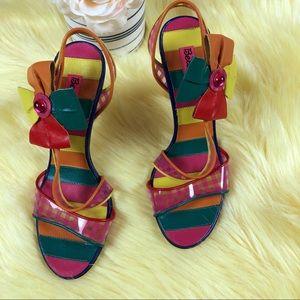 BETSEYVILLE | colorful sandal heels size 7